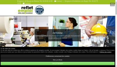 Site internet de Reflet Emploi