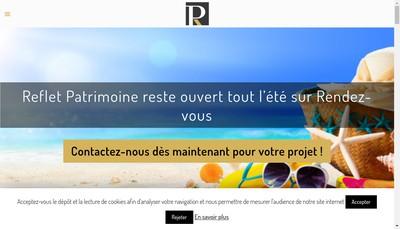 Site internet de Reflet Patrimoine