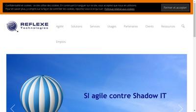 Site internet de Reflexe Telematique