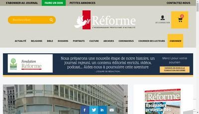 Site internet de Association Reforme