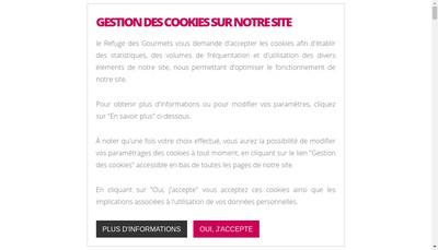 Site internet de Le Refuge des Gourmets