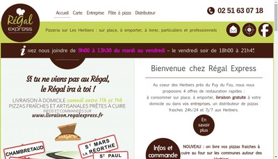 Site internet de Regal Express