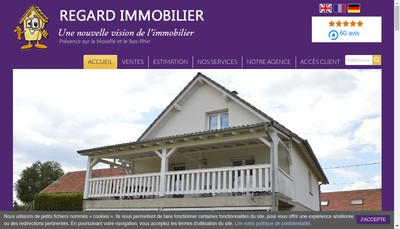Site internet de Regard Immobilier