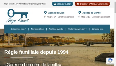 Site internet de Regie Conseil