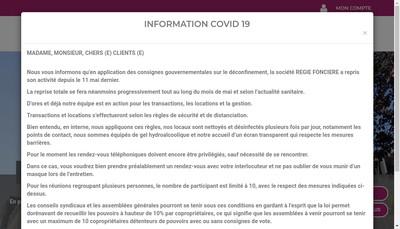 Site internet de Regie Fonciere