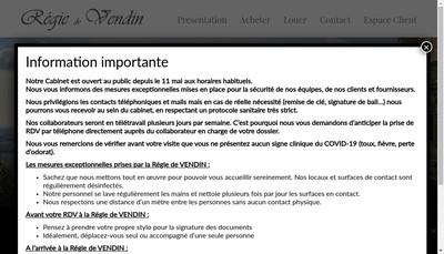 Site internet de Regie de Vendin