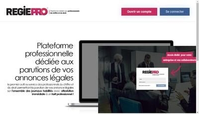 Site internet de Regiepro