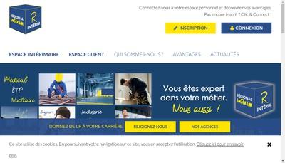 Site internet de Regional Interim du Mont
