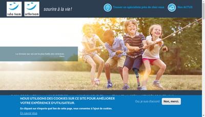 Site internet de Ortho Team - Reha Team