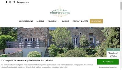 Site internet de Relais des Chartreuses