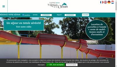 Site internet de Le Relais de l'Ocean