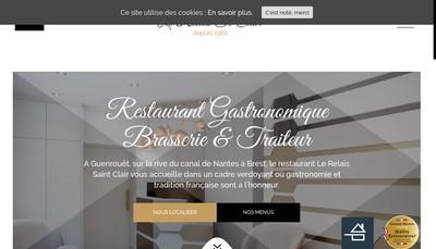 Site internet de Le Relais Saint Clair