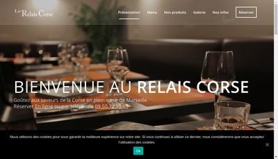 Site internet de Le Relais Corse