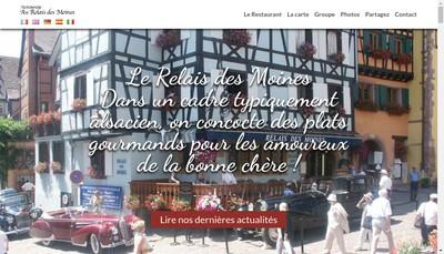 Site internet de Restaurant le Relais des Moines