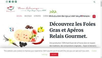Site internet de Relais Gourmet