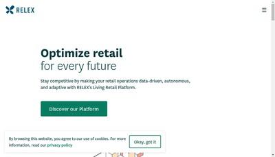 Site internet de Relex Solutions