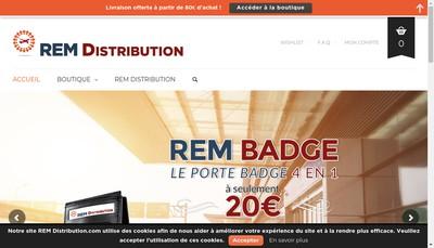 Site internet de Rem Distribution