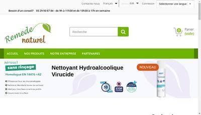 Site internet de Remede Naturel