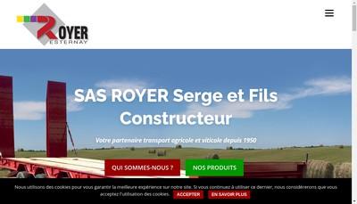 Site internet de Constructions Metalliques Royer Serge et Fils