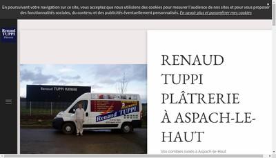Site internet de Renaud Tuppi Platrerie