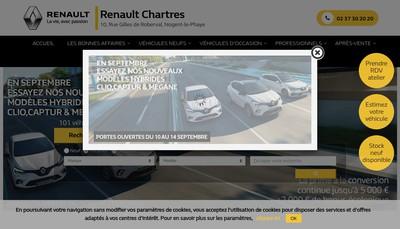 Site internet de Renault Chartres