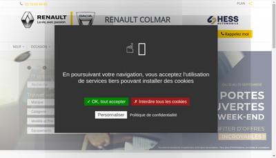 Site internet de Hess Automobile