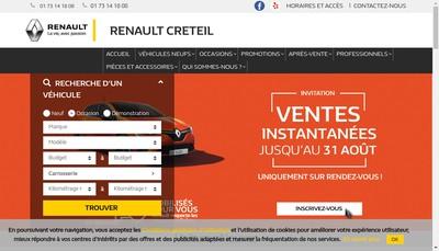 Site internet de Societe de Vente Automobiles de Creteil