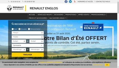 Site internet de Garage de la Lys Englos les Geants