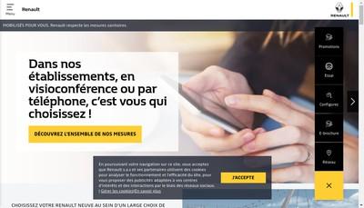 Site internet de Renault Dacia