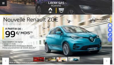 Site internet de SAS Lafay