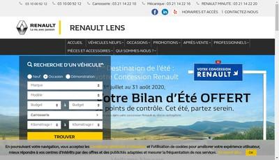 Site internet de Nouveaux Garages Lensois