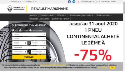 Site internet de Marignane Automobiles et Services SA