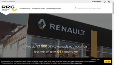 Site internet de Renault Retail Group