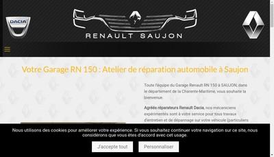 Site internet de Garage Rn 150