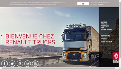 Site internet de Renault Trucks Grand Paris