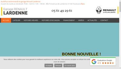 Site internet de Renault Lardenne