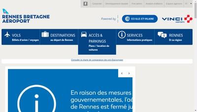 Site internet de Societe d'Exploitation des Aeroports de Rennes et Dinard (Seard)