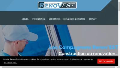 Site internet de Renovest Lorraine