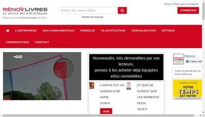 Site internet de Ateliers Renov'Livres
