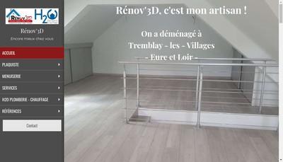 Site internet de Renov' 3D