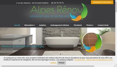 Site internet de Alpes Renov