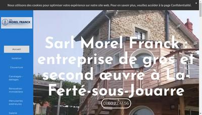 Site internet de SARL Morel Franck