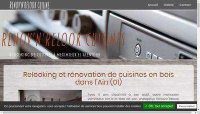 Site internet de Renov'N'Relook Cuisines