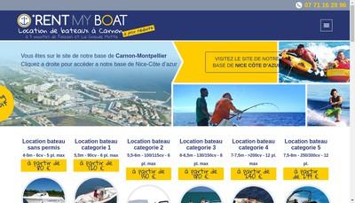 Site internet de Rent My Boat