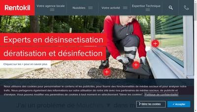Site internet de Rentokil Initial Guadeloupe
