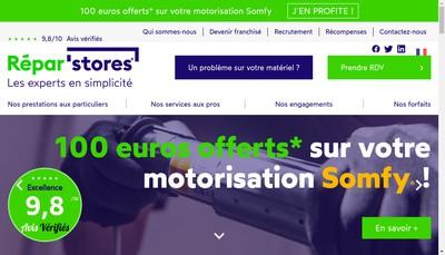 Site internet de Repar'Stores