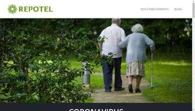 Site internet de Repotel Marcoussis