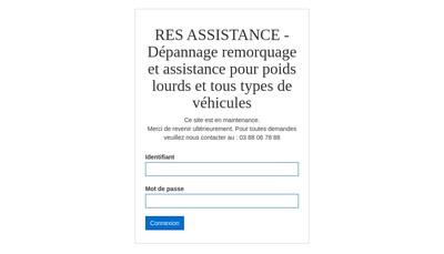 Site internet de Res Assistance