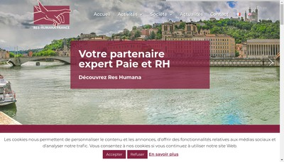 Site internet de Res Humana France