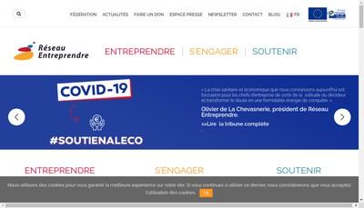 Site internet de Reseau Entreprendre Normandie Estuaire